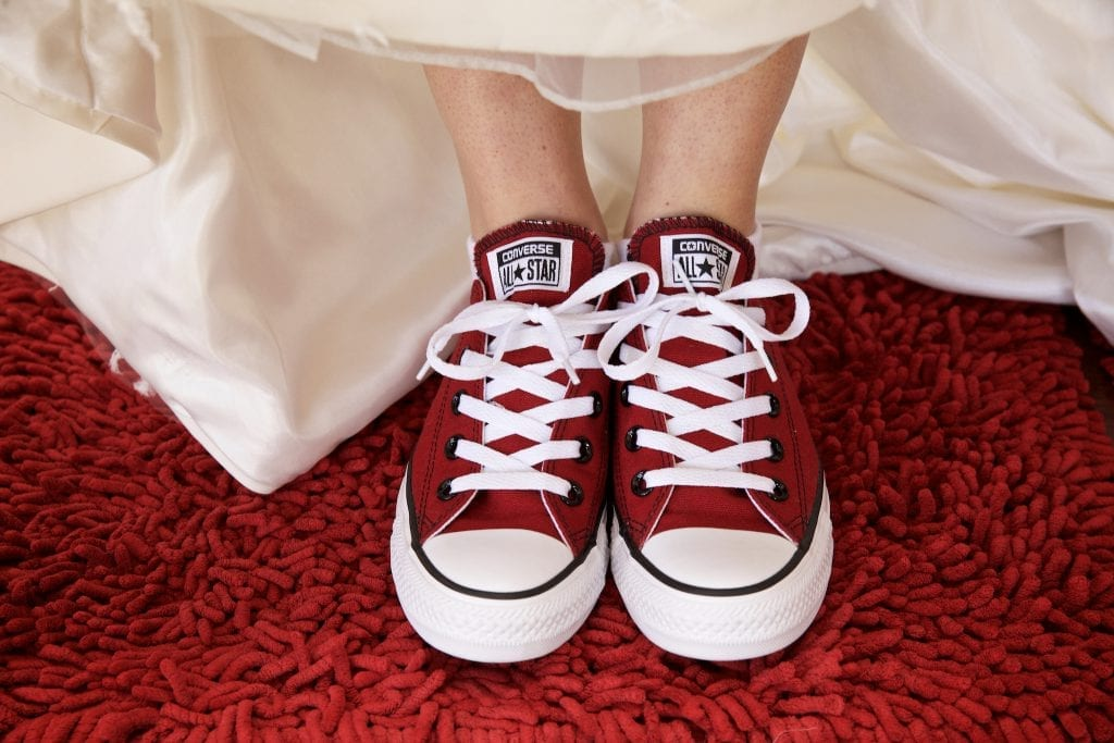 Red Converse wedding shoes, Tulsa wedding photography
