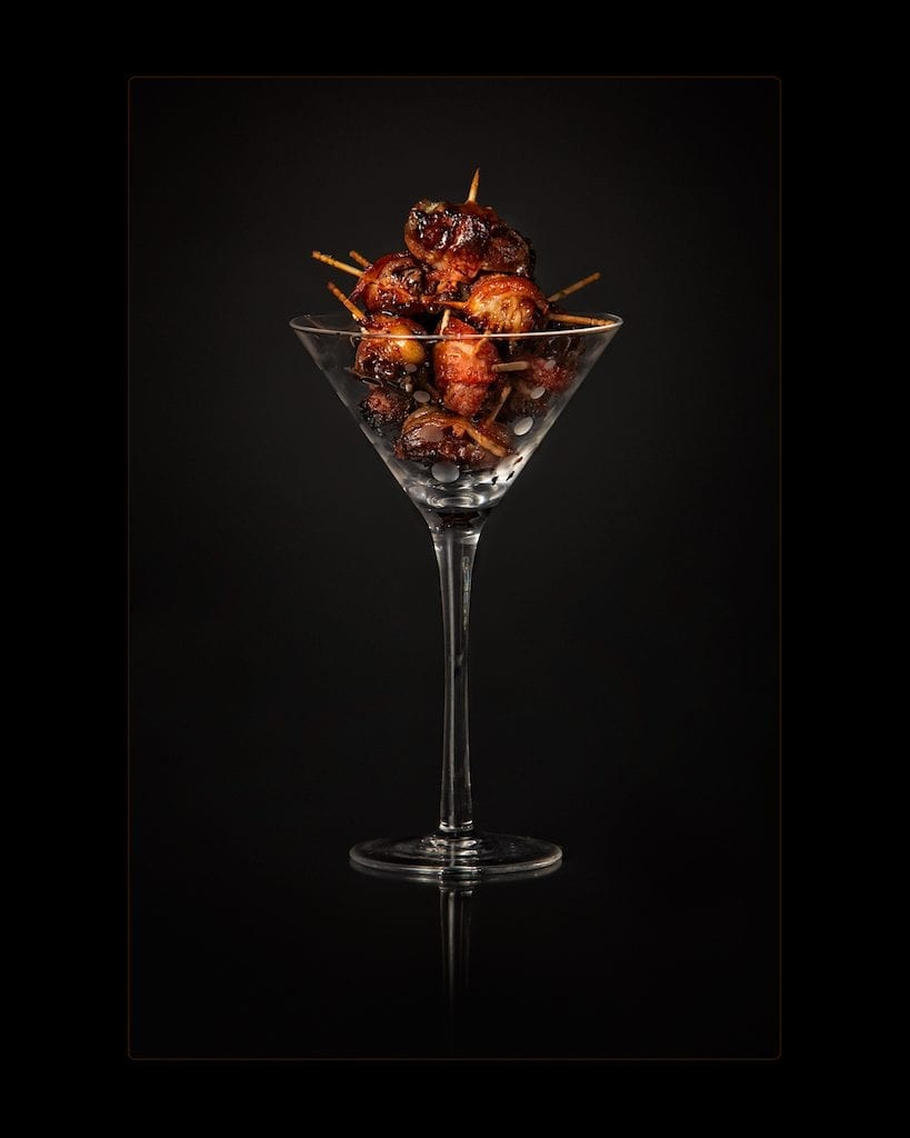 photo of glass filled with appetizer