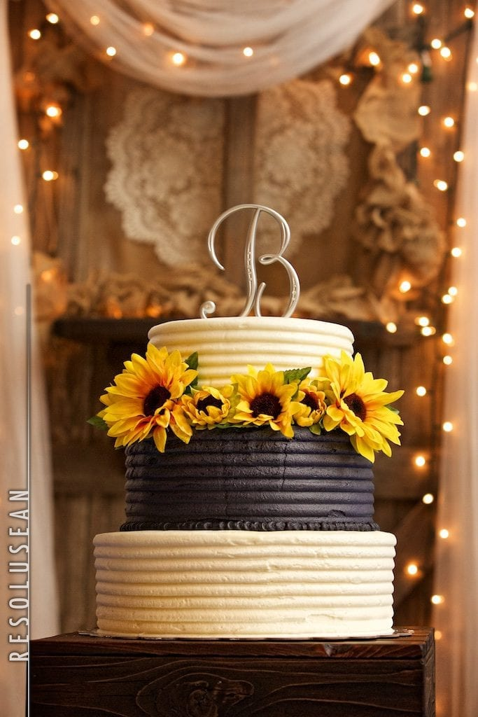 Cake with vintage backdrop
